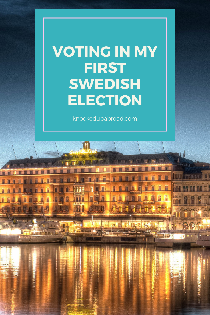 Voting in my first Swedish Election | knockedupabroad.com