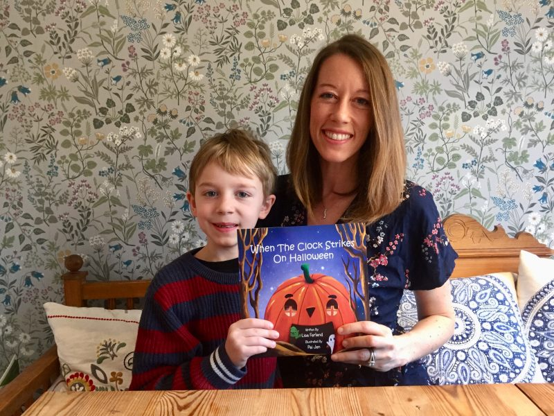 Lisa Ferland and son When the Clock Strikes on Halloween